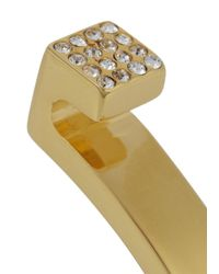 Vita Fede - Metallic Mini Omega Gold Tone Swarovski Embellished Bangle - Lyst