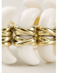 Vaubel | White Connected Teeth Bracelet | Lyst