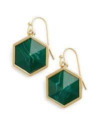 Trina Turk | Green 'floret' Drop Earrings | Lyst