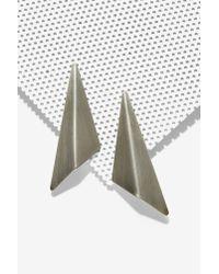 Nasty Gal - Metallic Flight Of Fancy Triangle Earrings - Lyst
