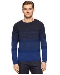 Calvin Klein - Black Ombré Striped Crew-neck Sweater for Men - Lyst