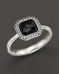 Ippolita | Metallic Sterling Silver Stella Ring In Onyx With Diamonds | Lyst