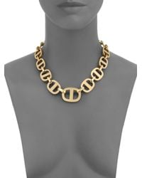 Michael Kors | Metallic Heritage Maritime Large Chain Toggle Necklace | Lyst