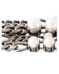 Lanvin - White Pearl Bracelet - Lyst