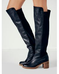 Free People | Black Sixty Seven Womens Landry Tall Boot | Lyst