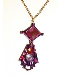 Matthew Williamson   Purple Geometric Pendant Necklace   Lyst