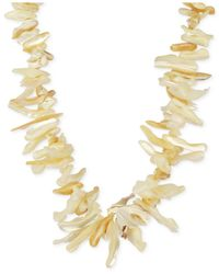 Macy's - Metallic Mother-of-pearl Shell Necklace In 14k Gold-plated Sterling Silver - Lyst