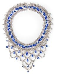 Tom Binns | Blue Crystal Drop Scalloped Necklace | Lyst