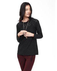 Banana Republic | Black Geo Lace Sweatshirt | Lyst