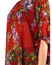 Dolce & Gabbana   Black Photo Print Silk Shift Dress   Lyst