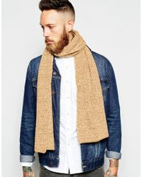 ASOS - Yellow Wool Mix Scarf In Mustard Twist for Men - Lyst