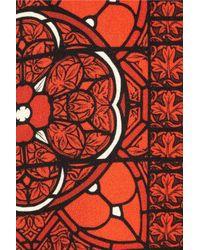 Alexander McQueen | Red Printed Wool-Crepe Dress | Lyst