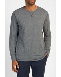 Faherty Brand - Gray Long-sleeve Thermal Crewneck for Men - Lyst
