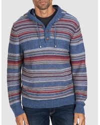 Faherty Brand - Blue Baja Sweater Poncho for Men - Lyst