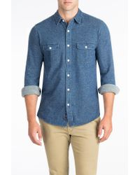 Faherty Brand | Blue Knit Belmar Shirt for Men | Lyst