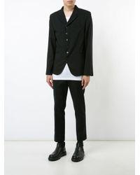Ann Demeulemeester - Black Button Blazer for Men - Lyst