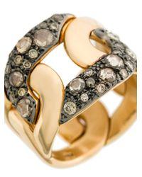 Pomellato - Metallic Interlocked Finger Ring - Lyst
