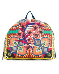 Etro - Multicolor Patterned Drawstring Backpack - Lyst