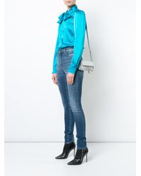 Chloé Blue Mini Faye Shoulder Bag