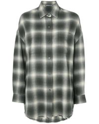 Vince - Gray Relaxed Check Shirt - Lyst