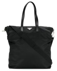 Prada - Black Shopper Tote for Men - Lyst