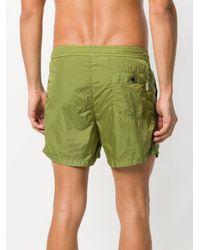 Dondup - Green Plain Swim Shorts for Men - Lyst