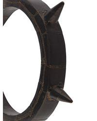 Parts Of 4 - Black Horn Spike Bangle for Men - Lyst