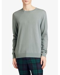 Burberry - Blue Crew Neck Sweater for Men - Lyst