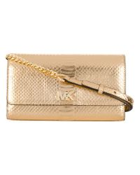 MICHAEL Michael Kors | Metallic Snakeskin Effect Shoulder Bag | Lyst