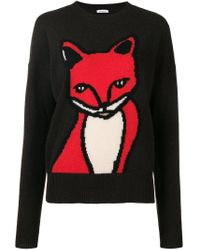 P.A.R.O.S.H. - Brown Animal Embroidered Sweater - Lyst