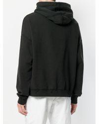 M I S B H V - Black Slogan Embroidered Hoodie for Men - Lyst