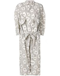 Henrik Vibskov - Multicolor Shirt Dress With Floral Pattern - Lyst