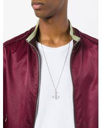 True Rocks - Metallic Anchor Pendant Necklace for Men - Lyst