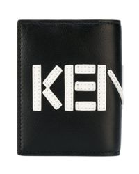 KENZO - Black Graphic Logo Wallet for Men - Lyst