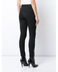 Veronica Beard - Black Zip Pocket Trousers - Lyst