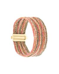 Carolina Bucci - Metallic 18kt Gold 9 Strand Lazy Lucky Bracelet - Lyst