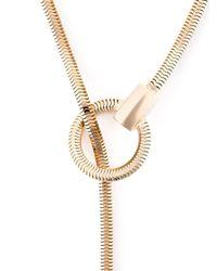 Lara Bohinc - Metallic 'schumacher' Loop Necklace - Lyst
