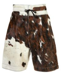 Vivienne Westwood - Brown Cow Skin Shorts for Men - Lyst