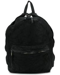 Giorgio Brato - Black Crinkled Backpack for Men - Lyst