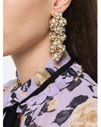 Ca&Lou - Metallic Eva Crystal Earrings - Lyst