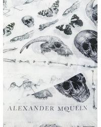 Alexander McQueen - White Skull Print Scarf for Men - Lyst