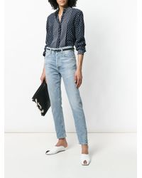Citizens of Humanity - Blue Straight Leg Mid Rise Jeans - Lyst