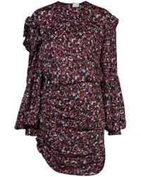 Magda Butrym - Black Floral Cutout Dress - Lyst