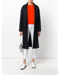 Erika Cavallini Semi Couture - Blue Long Coat - Lyst