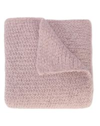 Rachel Comey - Pink Fuzzy Knit Blanket Scarf - Lyst
