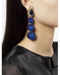 Shourouk | Blue Disco Earrings | Lyst