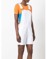 Citizens of Humanity - White Distressed Dungarees - Lyst