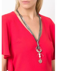 Camila Klein - Metallic Embellished Long Necklace - Lyst