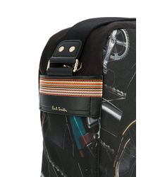 Paul Smith - Black Bicycle Print Messenger Bag for Men - Lyst