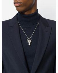 Gucci - Metallic Anger Forest Wolf Head Necklace for Men - Lyst